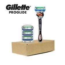 NEW Gillette Fusion5 Proglide Men's Razor Handle + 4 Blade Refills