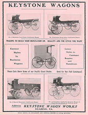 BIG 1905 KEYSTONE CALIFORNIA WAGON & EXPRESS WAGON AD READING PA PENNSYLVANIA