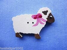 40mm Hand Painted Sheep Button