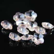 12pcs Swaro/vski 8mm plum blossom shape Crystal beads C Pink