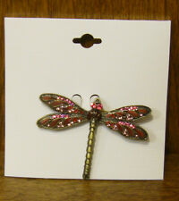 Welforth Bejeweled Pin #K197 DRAGONFLY Pink mint NEW from our Retail Store