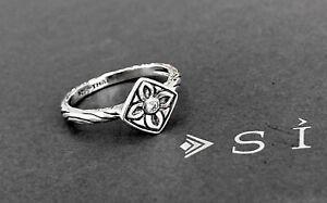 SILPADA Sterling Silver BELLE FLEUR CZ FLOWER Ring~R2465~Size 9