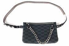 Michael kors Belt Bag Waist Wallet MK Logo Dark Gray With Chain XLarge NWT
