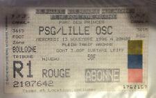 TICKET / BILLET PSG-LILLE 13/11/1996 D1 paris saint germain sg no maillot