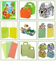 JUNGLE ZOO ANIMALS - BIRTHDAY PARTY GIFT LOOT BAGS ~ PLATE BOX ~ CAKE SWEET BAG