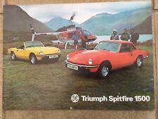 Triumph Spitfire 1500 1977 UK Market Sales Brochure in VGC