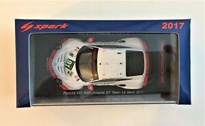 SPARK S5833 Porsche 911 RSR - Porsche GT Team  # 91 24h di Le Mans 2017 1/43