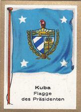 DRAPEAU CUBA KUBA President FLAG CARD 30s