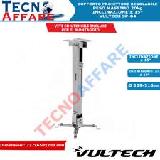 Staffa Supporto Proiettore Altezza Regolabile Peso Massimo 20 Kg Vultech SP-04