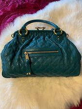 886acf32d9d Authentic Marc Jacobs Quilted Stam Turquoise Gold Bag w chain and dustbag