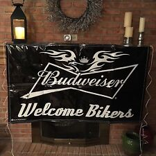 Welcome bikers Budweiser Sign