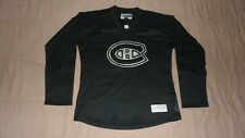 Montreal Canadiens Black Reebok Womens Large NHL Hockey Jersey