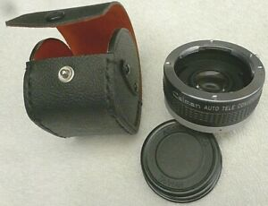 Calman Auto Tele Converter 2X for Pentax - K  with Snap Case - Made in Japan
