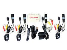 AV sender anti-jamming audio video TV share IR extender 1 emitter 4 receiver