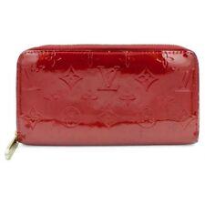 Authentic LOUIS VUITTON Red Vernis Patent Zippy Wallet