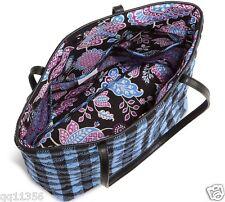 NWT Vera Bradley Day Tote bag purse in Alpine Check with Black 13912 392481 QQ