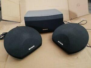 AIWA Surround Sound Speaker Set - 2 Side SX-R275 w/ Box and 1 Center SX-C605