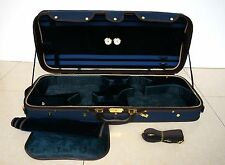 Strong&Sturdy 4/4 Full Size Wooden Double Violin Case for 2 violins Blue Color