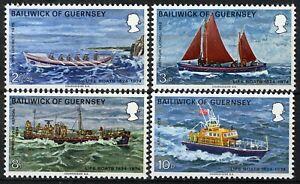 Guernsey 1974, Ships, Life boat set MNH, Mi 89-92