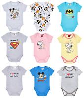 Baby Boys Girls Unisex Various Babygrow Vest Body Suit Romper Short Sleeve