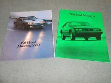 1984 FORD MUSTANG, GT, L, LX, Etc. 28 p. CATALOG plus ORIGINAL '84 SVO BROCHURE