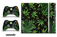 Skin Decal Wrap for Xbox 360 E Gaming Console & Controller Sticker Design WEED K