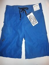 NEW Boy's JUST BONES BOARDWEAR Swim Trunks Board Shorts  Blue Size 25