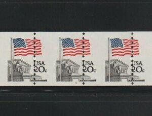 US EFO, ERROR Stamps: #1895 Flag, Court Perf shift PS7 #5, PNC. MNH