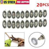 Stainless Steel 20PC Wire Brush Fit Dremel Rotary Tool Die Grinder Removal Wheel