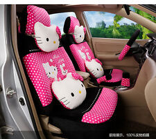 ** 20 Piece Hot Pink Polka Dot Pretty Hello Kitty and Bunny Car Seat Covers **