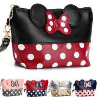 Women Mickey Minnie Mouse Bag Dot Travel Cosmetc Make Up Pouch Handbag Clutch