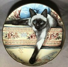 """Siamese Cat Plate Limited Edition 8"""" Franklin Mint"""