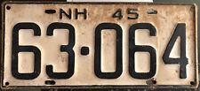 Vintage 1945 New Hampshire passenger car license plate