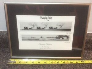 P. BUCKLEY MOSS CHRISTMAS EXHIBITION ST PETERSBURG PRINT FRAMED 1993