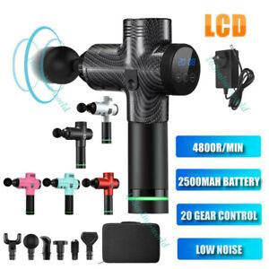 LCD Massage-Gun Percussion Massager 30 Speeds Deep Tissue Muscle Vibrating-Relax