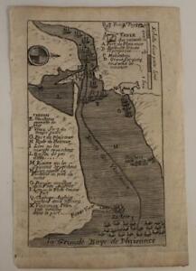 PLACENTIA BAY NEWFOUNDLAND CANADA 1741 DE LAHONTAN UNUSUAL ANTIQUE ORIGINAL MAP