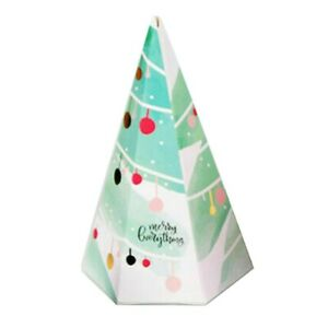 10Pcs New Christmas Tree Party Paper Favour Gift Sweet Boxes 9.5*15.6cm