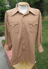 Vintage Western H Bar C Shirt Mens Xl Short - (Modified with Shortened Sleeves)