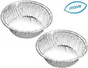 """4¼"""" ROUND INDIVIDUAL DEEP FOIL PIE DISHES, SMALL CASES, QUICHE, CUSTARDS, PIES"""