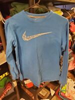 Boy's Nike Blue Long Sleeve Shirt Size XL