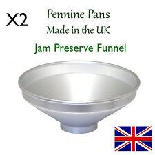 Deux ampoules à décanter 6 pouces jam jelly préserver chutney facile remplissage entonnoir made in uk