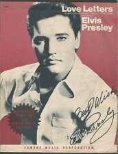 Elvis Presley Love Letters Music Sheet Signed Printed 1945