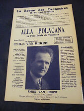 Partition Alla Polacana Emile Van Herck 1955 Music Sheet