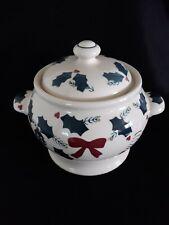 Christmas Hartstone Pottery Gingerbread Man Soup Terrine Bowl Pot