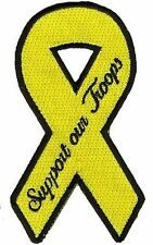 POW RIBBON Support Our Troops Embroidered Motorcycle Biker vest Patch PAT-3156