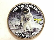 "Vintage Apollo ll ""First man On The Moon"" Colorized Kennedy U.S. Half Dollar"