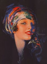 1940s Pin-Up Girl Scarf Girl Picture Poster Print Vintage Art Pin Up