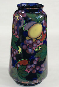 Vintage Circa1930 Art Nouveau Royal Stanley Ware Jacobean Vase Hand Painted