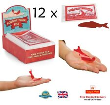 12 x FORTUNE TELLING FISH Party Bag Stocking Filler Girls Boys Toy Gift Red Fish