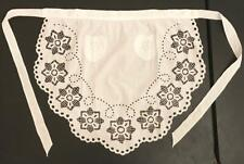 White Cotton Cutwork Embroidery Apron European Polish